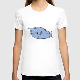 Unicorn fish illustration T-shirt