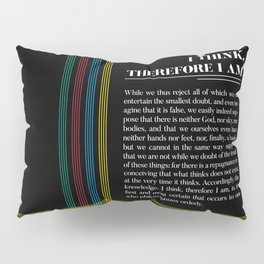 Philosophia II: I think, therefore I am Pillow Sham