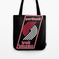 nba Tote Bags featuring NBA - Trail Blazers by Katieb1013