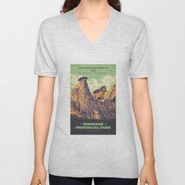 Dinosaur Provincial Park Unisex V-Neck