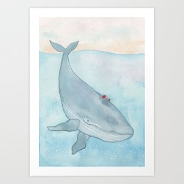 The whale and the boy Art Print
