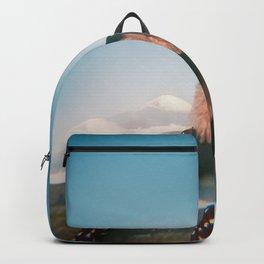 Girl Looking Out at Mount Fuji - Holga film photograph Backpack