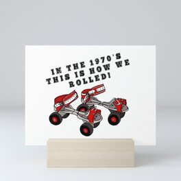 In The 1970's This is How We Rolled on Proper Adjustable Rollerskates! Mini Art Print