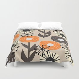 Some happy flowers Duvet Cover