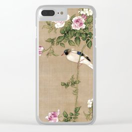 Flowers and Birds II Clear iPhone Case
