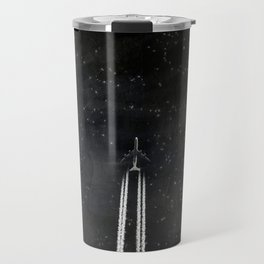 Star Flight - Airplane crossing a starry sky Travel Mug
