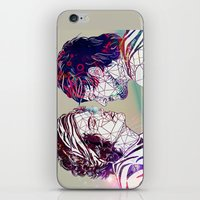 larry stylinson iPhone & iPod Skins featuring Geometric Larry by Peek At My Dreams