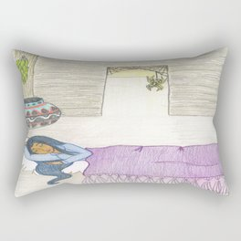 Sleeping Girl Rectangular Pillow