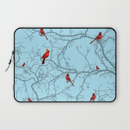 Winter Cardinals Laptop Sleeve