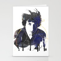 bob dylan Stationery Cards featuring bob dylan by manish mansinh