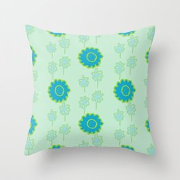 Handbag Heaven Blues - details Throw Pillow