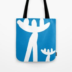 Minimal art Father and son Tote Bag