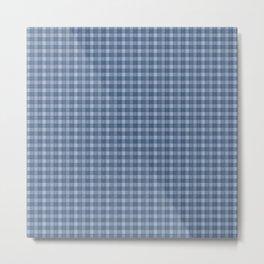 Denim Blue Plaid  Metal Print