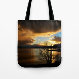 Sunset in Scotland Tote Bag
