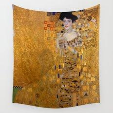 Adele Bloch-Bauer I by Gustav Klimt Wall Tapestry