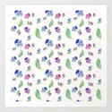 Summer Pansy Apple Leaf Pattern by squibble
