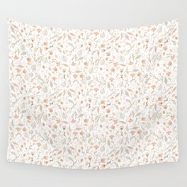 Pink Meadow Wall Tapestry