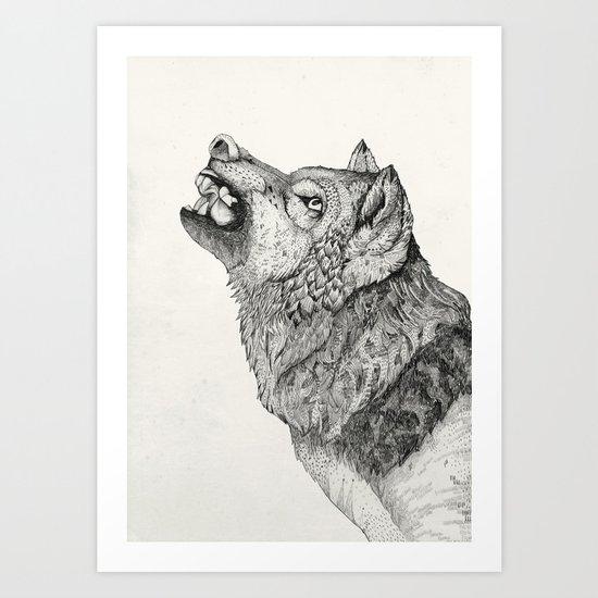 Wolf // Graphite Art Print