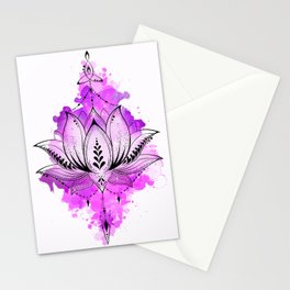 Mother Lotus Stationery Cards