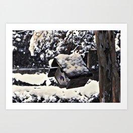 Snow Bird Resort Art Print