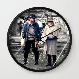 Civil War Reenactment Wall Clock