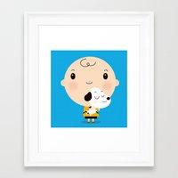 best friends Framed Art Prints featuring Best Friends by Maria Jose Da Luz