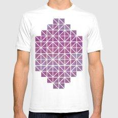 Broken Geometry 2 White MEDIUM Mens Fitted Tee