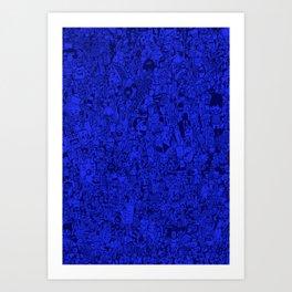 pattern blue Art Print