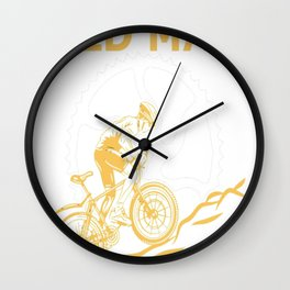 Never Underestimate An Old Man With A Mountain Bike Wall Clock