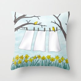spring clean Throw Pillow