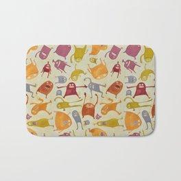 Watercolor Critter Pattern Alpha Bath Mat