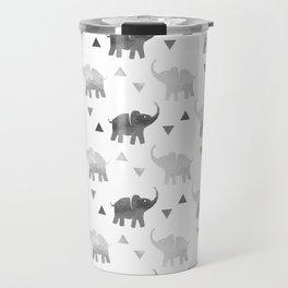 Elephants and Triangles - Silver Travel Mug