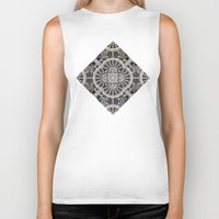 lace Biker Tanks featuring Old Lace by Lyle Hatch