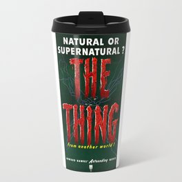The Thing, Vintage Horror Movie Poster Travel Mug