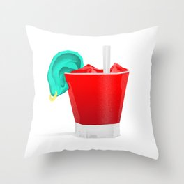 Cocktail of the pirates Throw Pillow