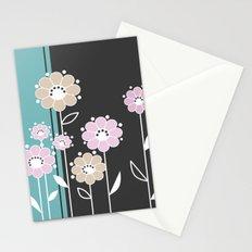 Floral applique . Retro .  Stationery Cards
