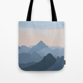 Pastel Sunset over Blue Mountains Tote Bag