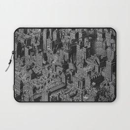 The Fantasy City. Urban Landscape Illustration. Laptop Sleeve