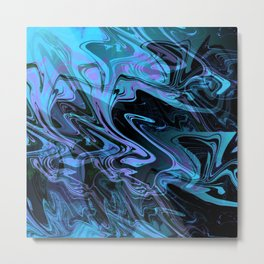 Blue, Purple, Black Swarm Rave Party Metal Print