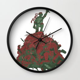 Never Forget That They Were Ninja Wall Clock