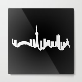 Toronto Skyline - Black Metal Print