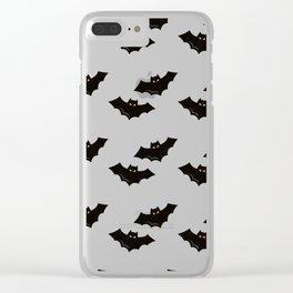 Halloween Flying Bat Clear iPhone Case
