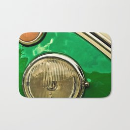 Vintage 21-window classic in green wall art - photograph Bath Mat