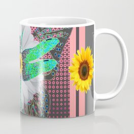 GREEN DRAGONFLY FLORAL UNIVERSE Coffee Mug