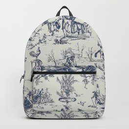 Blue Toile de Jouy Backpack