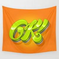 kim sy ok Wall Tapestries featuring Ok by Roberlan Borges