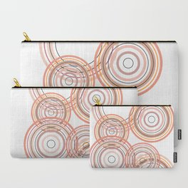 Abstract brown circle Carry-All Pouch