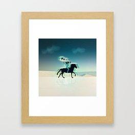 Joy Of Being Free Framed Art Print