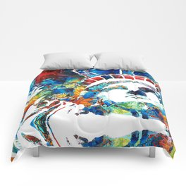 Colorful Statue Of Liberty - Sharon Cummings Comforters