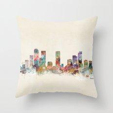 denver colorado skyline Throw Pillow